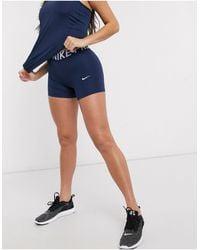 Nike Темно-синие Шорты 5 Дюймов Nike Pro Training-темно-синий