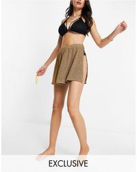 South Beach Metallic Beach Skirt