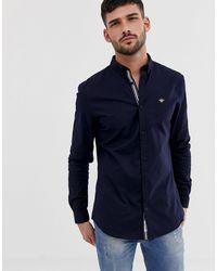 River Island Темно-синяя Облегающая Оксфордская Рубашка -темно-синий