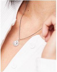Krystal London Krystal - Collier avec pendentif en cristaux Swarovski - Métallisé