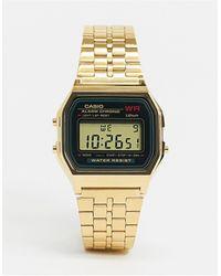 G-Shock Цифровые Часы В Стиле Унисекс С Золотистым Браслетом A159wgea-1ef Unisex-золотистый - Металлик
