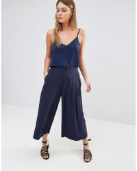 Esprit Pleated Culottes - Navy - Blue
