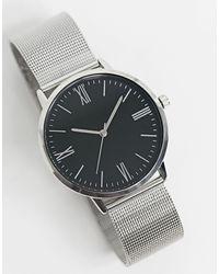 TOPMAN - Серебристые Часы -серебристый - Lyst