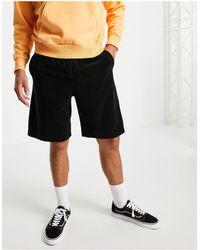 Weekday Kye Velour Shorts - Black
