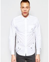 Izzue - Shirt With Splatter Embroidery - Lyst