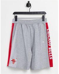 KTZ Серые Трикотажные Шорты С Лентами Nba Chicago Bulls-серый