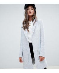 ASOS - Asos Design Curve Slim Coat In Texture - Lyst