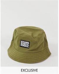 Reclaimed (vintage) Inspired Logo Bucket Hat - Green