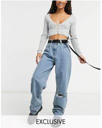 Collusion X014 - Dad jeans extra larghi stile anni '90 lavaggio blu vintage