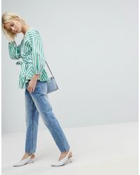 EVIDNT Crop Straight Jeans - Blue