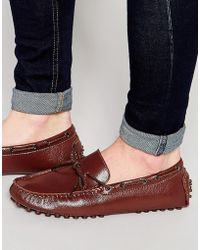 Bellfield - Driving Loafers In Brown Leather - Lyst