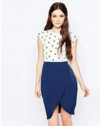 Sugarhill - Heart Print Tulip Skirt Dress - Lyst