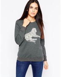 Sugarhill - Gloria Lying Leopard Sweatshirt - Lyst