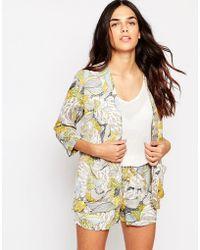 Hazel - Tropical Print Kimono - Lyst