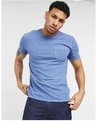 Polo Ralph Lauren Slub Jersey Player Logo Pocket T-shirt - Blue