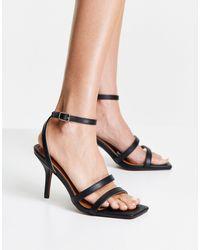 NA-KD Basic Strappy Heeled Sandals - Black
