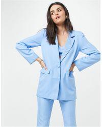 ASOS Dad - Blazer da abito 3 pezzi aderente - Blu