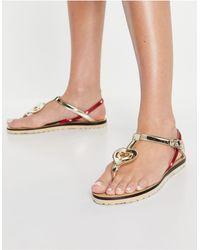 Love Moschino Toe Post Sandals - Metallic