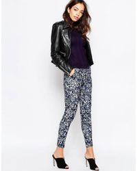 New Look Floral Print Trouser - Blue