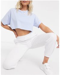 New Look Белые Джоггеры С Манжетами -белый