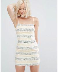 MINKPINK - Sundowner Stripe Mini Dress - Lyst