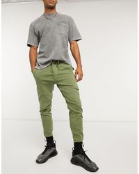 Pull&Bear Cargo Trousers - Green