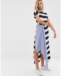 Sass & Bide Vestido en mezcla de estampado a rayas - Azul