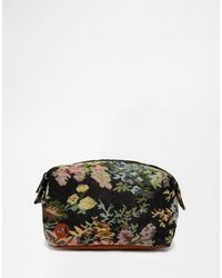 Mi-Pac - Wash Bag Tapestry Black - Lyst
