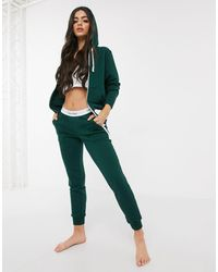 Calvin Klein Зеленые Хлопковые Джоггеры Для Дома -зеленый