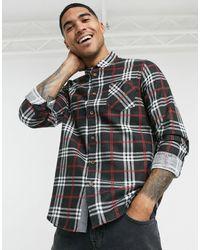 Brave Soul Check Flannel Shirt - Black