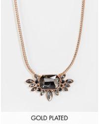 Pilgrim - Rose Gold Statement Jewel Necklace - Lyst