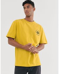 Brooklyn Supply Co. Oversized T-shirt With Logo - Yellow