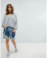 Free People | Heart Breaker Patched And Embroidered Shorts | Lyst