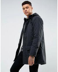 Tokyo Laundry - Parka Jacket With Borg Lining - Lyst