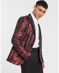 Bolongaro Trevor Blazer skinny con stampa a fiori - Rosso