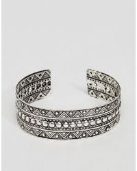 ASOS - Asos Engraved Burnished Arm Cuff - Lyst