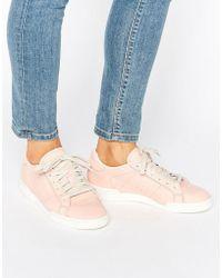 Reebok - Npc Ii Trainers In Tonal Pink Leather - Lyst