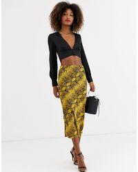 AX Paris Aline Midi Skirt - Yellow