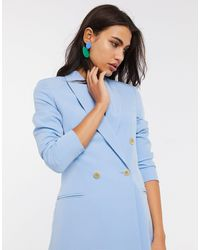 Stradivarius Double Breasted Blazer Dress - Blue