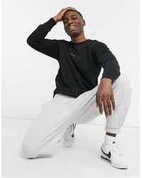 SELECTED Sweatshirt With Homme Logo - Black
