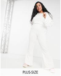 PUMA Plus Icons 2.0 Fashion Wide Leg Trousers - White