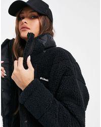 Columbia Lodge Baffled Sherpa Fleece Jacket - Black