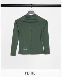 ASOS 4505 Фирменный Лонгслив Узкого Кроя Petite-зеленый