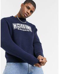 Weekday Johan Hotline Jaquard Sweater - Blue