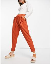 Closet Tailored Paper Bag Trousers