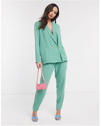 Ichi Pastel Suit Trousers - Green