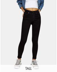 TOPSHOP - Jamie - Jeans skinny neri - Lyst