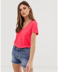 J.Crew Mercantile Classic Poppy V-neck T-shirt - Red