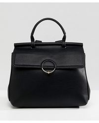 ASOS DESIGN - Backpack With Ring And Ball Detail - Lyst