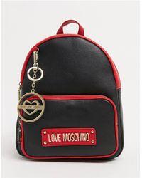 Love Moschino Классический Рюкзак Черного И Красного Цвета -черный